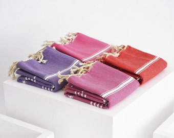 SALE 50 OFF/ SET / 4 Towels / Head & Hand Towel / Classic Style