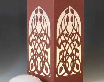 Celtic Wings Laser cut Luminary Table Lamp Centerpiece - #70
