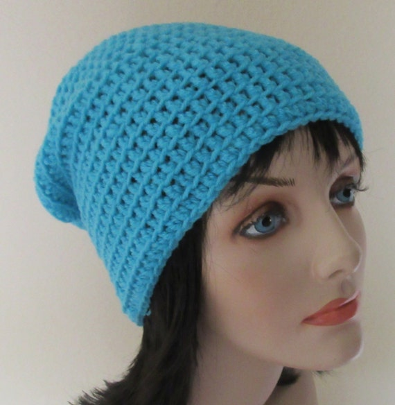 Turquoise Slouchy Hat, Crochet Slouchy Beanie, Women's Slouchy Hat, Women's Winter Hat, Slouch Hat, Slouch Beanie,  Fashion, Boho Fashion