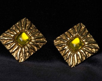 JEAN PATOU per GRIPOIX Paris Earrings from 80s.    Mother's Day gift