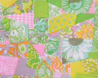 "Vintage 1960s Fabric / 60s Zuzek Key West Lilly Pulitzer Cotton Fabric ""KLIPS"" / 45"" Width / By the Yard / 3 Yards Available"