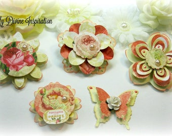 Webster's Pages Postcards from Paris Scrapbook Embellishments Paper Embellishments for Scrapbooking Layouts, Cards, Mini Albums Paper Crafts