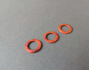 Artisan Handmade Copper Rings, 3 Rings, Copper Textured Rings, Heat Treated Copper, Artisan Findings,