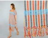 FEBRUARY SALE Woven FRINGED Tunic Dress