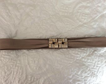 Brown Leather Cinch Belt Taupe Cinch Belt