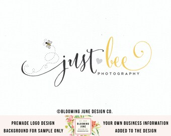 bee logo design photography logo premade logo design graphic design business logo watermark logo photgraphers logo design branding logo