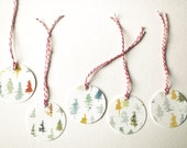 Painted Gift Tags - Trees