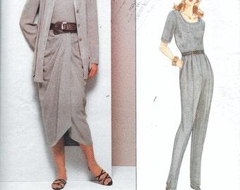 Vogue 1303 Anne Klein Jacket Bodysuit Skirt & Pants Designer Sewing Pattern UNCUT Size 8, 10 and 12