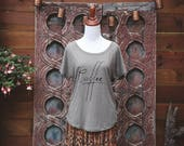 Coffee Dolman Tee