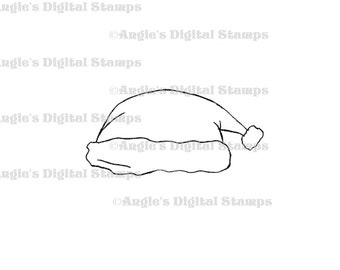 Santa Hat Digital Stamp Image