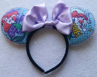 Little mermaid pop art minnie ears