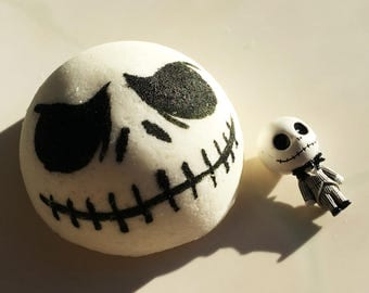 JACK BOMB! SKELLINGTON Surprise Toy NiGHTMARE BeFORE CHRiSTMAS Bath Bomb - Halloween Town Party Pumpkin King Trick Or Treat Gift Idea Burton