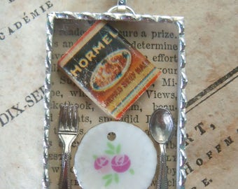 Fiona & The Fig - Food For Thought-Shadowbox Charm - Soldered Charm - Necklace - Pendant-Jewelry