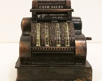 Vintage Die Cast Mini Cash Register Pencil Sharpener