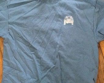 Large tall 80 series blueprint  shirt  blue adult  Land Cruiser