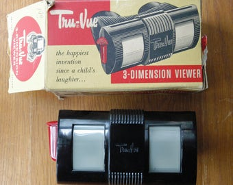 Tru-Vue 3-Dimension Viewer with original Box for Picture Stories in Color
