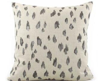 Black Cheetah Pillow Cover 18x18, 20x20, 22x22 Eurosham or Lumbar, Black Tan Pillow, Cheetah Print, Throw Accent Pillow, Lacefield Asher