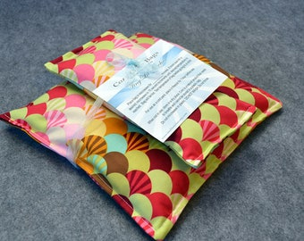 Corn Heating Pad Set, Microwave Heat Pack, Cold Pack, Corn Bag Microwavable, Pain Relief -- Scallops, Gift Set - LAST ONE