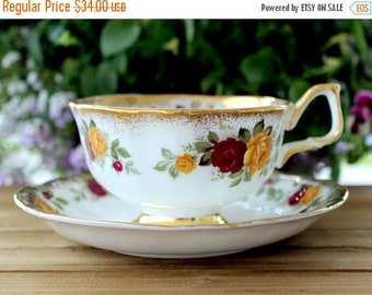 Arklow Tea Cup, Vintage Teacup and Saucer, Irish Bone China, Antique Tea 12966