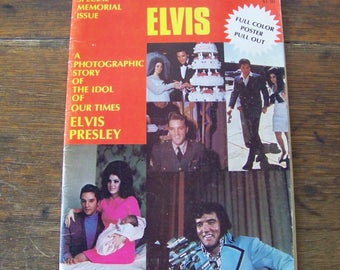 Vintage Magazine ELVIS The World of Elvis 1977 King Of Rock American Legend Elvis Fan