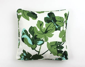 Peter Dunham Fig Leaf (Both Sides) Pillows with Self Welting (comes on White or Natural Linen)