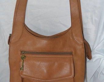ON SALE FOSSIL Bag~Fossil  Shoulder Bag~ British Tan Bag~Leather Bag~Fossil Sale