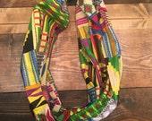 Bright Multi-Colored Kente  Infinity scarf