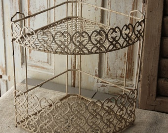 Vintage wire - metal corner shelf