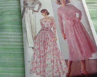 Vintage Butterick Pattern 3012 - Evening Wear, Formal Skirt, Pants, Camisole, Sizes 8 10 12, Uncut Pattern