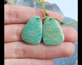 Amazonite Earring Bead,22x16x3mm,3.8g