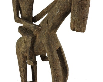 Dogon Horse and Rider Mali African 32 Inch 108707 SALE WAS 4500