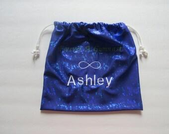 Ashley already on it! Monogram GYMNASTICS GRIP BAG w/ infinity symbol match to your team leotard warm up custom Christmas gift present