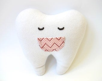 Tooth Pillow - Tooth Shaped Pillow - Tooth Fairy Pillow