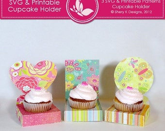 40% off SVG & Printable Cupcake Holder
