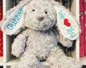Stuffed Bunny - Personalized Stuffed Animal - Plush Bunny - Custom Bunny - Easter Basket Filler - Stuffed Animal - Personalized Bunny