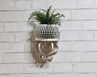 Vintage Metal Hanging Basket | Wall Pocket Hanging | Planter | Patio Decor | Garden Decor | Wrought Iron