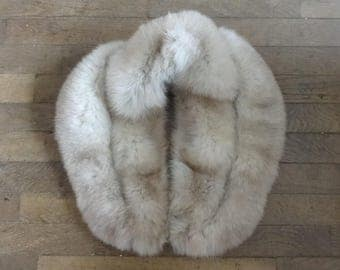 Vintage American fur collar stole scarf wrap taxidermy circa 1940-50's / English Shop