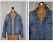 western denim jean jacket/topman/ light jean jacket/ denim jacket/ topman XL jacket/ XL jacket/ light denim