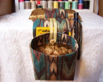 Scrap Bag Pincushion Organizer - Scrap Bag - Thread Catcher - Snippets Basket - Quilters Scrap Bag - Sewing Scrap Bag - Crafters Scrap Bag