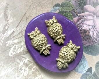 Owl set flexible silicone mold