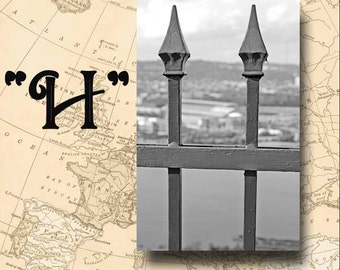 Letter H Alphabet Photography Black and White or Sepia 4 x 6 Photo Letter Unframed
