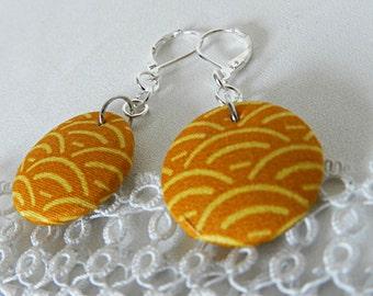 Japanese Wave Cloth Earrings