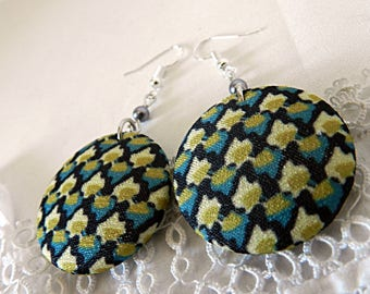 Vintage Graphic Fabric Earrings