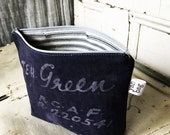 On Sale GREEN - reconstructed vintage duffle bag zippered pouch