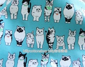 m187_55-  Cats fabrics  - cotton fabrics - Half Yard ( animal print fabric) - 5 colors