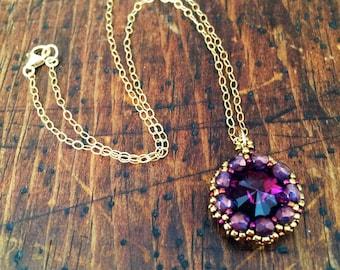 New! Amethyst crystal pendant necklace, purple pendant necklace, amethyst necklace, purple crystal necklace, amethyst pendant necklace