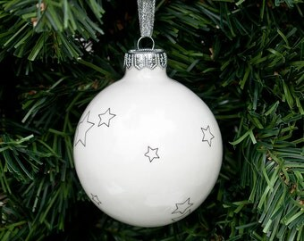 Christmas Bauble with Stars, Christmas Ornament, Christmas Tree Decoration