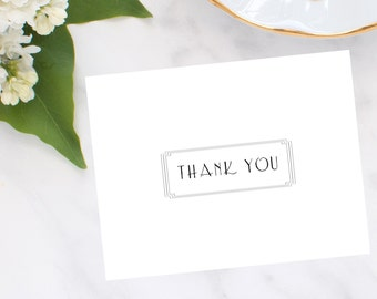 Gatsby Frame Thank You Notes
