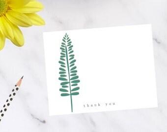 Modern Fern Note Cards