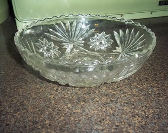 Anchor Hocking Early American Prescut EAPC Candy dish
